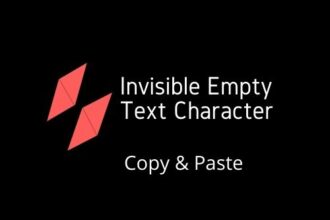 Invisble Text empty Text Character
