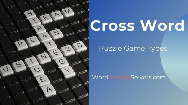 Cross Word Puzzle Game Types